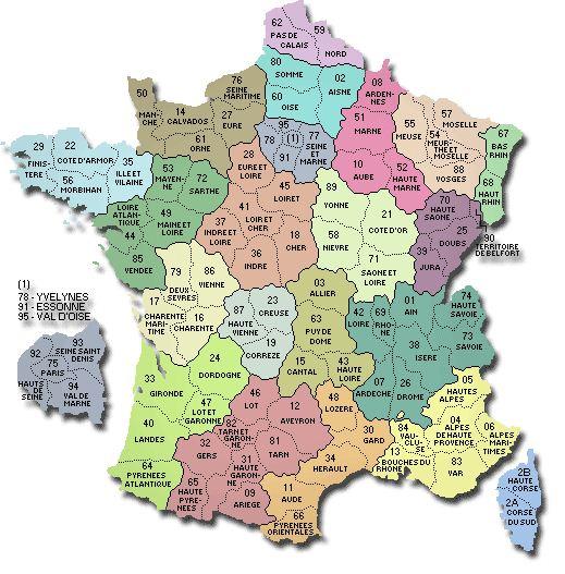 carte de france 58